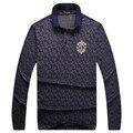 Миллиардер итальянский couture мужская футболка 2017 новый стиль полный рукав коммерческий модно комфорт довольно pattern бесплатная доставка