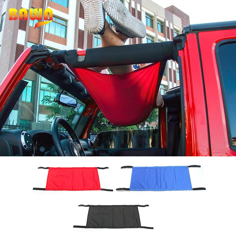 BAWA Car Covers For Jeep Wrangler 1997-2018 YJ/TJ/JK/JL Automatic Car Covers Hammock Tent Net Top Roof Storage Car Cover