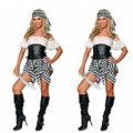 Caribbean Pirate Warrior Costume Women Halloween Pirate Costume Dress Female Fantasias Stage Wear Fantasy Fancy Party Cosplay