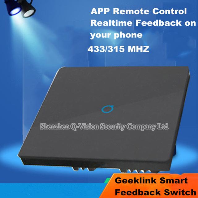 Geeklink 1 Gang Inteligente de Control Remoto Inalámbrico de Interruptor de Pared Light RF433 para la Automatización del Hogar Inteligente Interruptor de Regeneración del REINO UNIDO