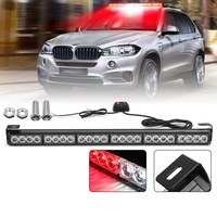 27inch 24 LED White Red Emergency Traffic Hazard Flash Warning Light Bar Traffic Strobe Flashing Light