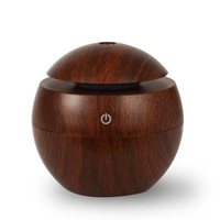 Mini Wooden Aromatherapy Humidifier Aroma Diffuser Air Purifier Color Changing LED Ultrasonic Mist Air Humidifiers For