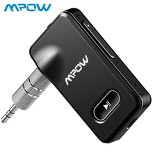 Mpow Bluetooth 4.1 Receiver Portable Wireless 3.5mm Audio Adapter 5-Min Quick Charge Hands-free Calling Car Kit