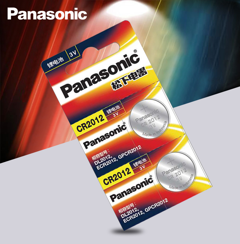 2 шт. оригинальный бренд новый аккумулятор PANASONIC cr2012 3v кнопочные батареи для монет для часов компьютера cr 2012