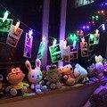 2017 Top Venta 20 Fotografía y Tarjeta de Clip de Luces de la Secuencia de Luces de Navidad de La Batería LED Del Banquete de Boda Home Dormitorio Decoración luz De navidad