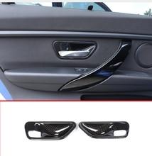 2 pcs In Fibra di Carbonio ABS Porta Interna Maniglia Ciotola di Copertura Trim Per BMW 3 4 Serie f30 f32 f35 316i 318i 320li 2013-2018