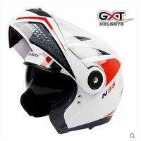 Người đàn ông GXT G370 đen đỏ Lật Lên Xe Máy Mũ Bảo Hiểm Motocross Moto Đua knight mũ bảo hiểm Xe Máy làm bằng ABS Màu Sắc
