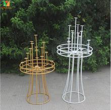 Wedding props: 16 iron art candlestick for creative romantic simple fashion decoration wedding accessories props.