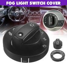 Головной светильник, противотуманный светильник, переключатель, Ремонтный комплект для Audi A4 S4 8E B6 B7 2000-2007, черная крышка переключателя