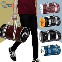 Quality PU Leather Gym Male Bag Top Female Sport Shoe Bag for Women Fitness Over the Shoulder Yoga Bag Travel Handbags