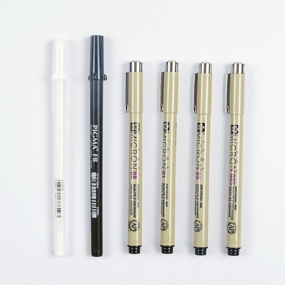Sakura Pigma Micron-Archival Acid-free Ink Pens Size 0.2 mm to Size 0.5 mm