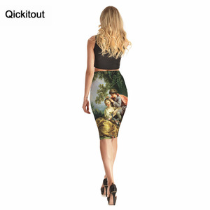 Image 5 - Qickitout Skirts 2016 New Hot Products Womens Sexy Forest Tree Cute Kids 3D Print Skirts High Waist Package Hip Skirt Drop Ship