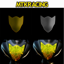 цена на MTKRACING FOR Suzuki GSX-R600 GSX-R 600 GSXR 600 GSX R 600 2014-2018 motorcycle Headlight Protector Cover Shield Screen Lens