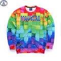 Mr.1991 бренд молодежной моды весной и Осенью тонкие кофты девушки большие дети забавный 3D Magcal печатных бегун толстовки мальчик W3