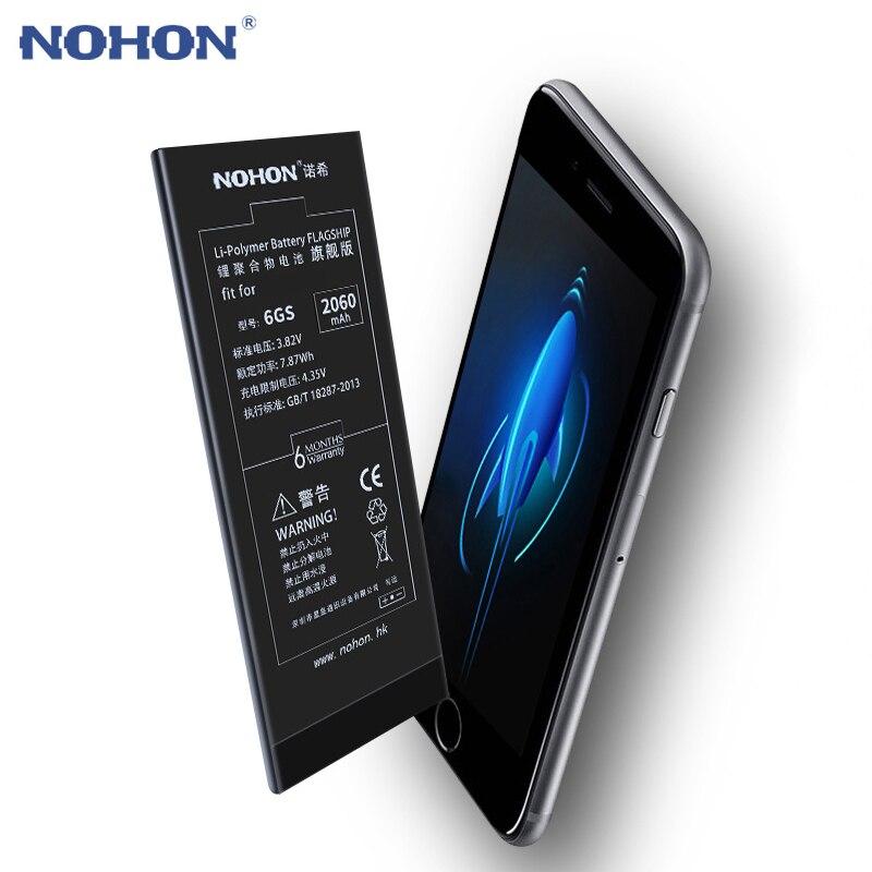 D'origine NOHON Batterie Pour iPhone 6 S Plus 7 6 5 Remplacement Bateria iPhone7 iPhone6 iPhone5 6 SPlus Haute Capacité + Outils gratuits