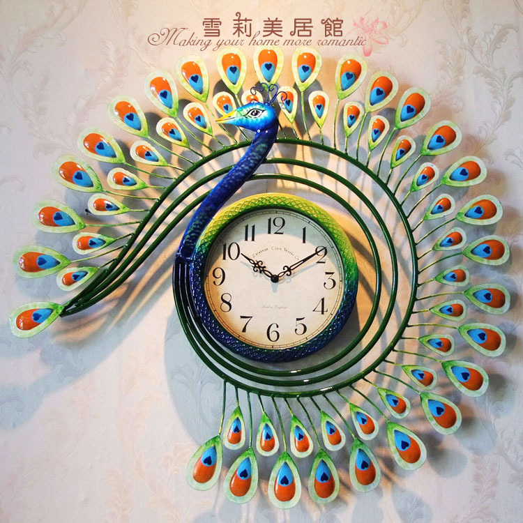 Genuine Mute The Living Room Wall Clock Hanging Continental Iron