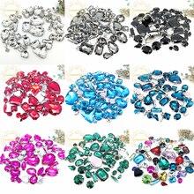 25IZES 58 шт 10 форма! Стразы со стеклянными кристаллами разных размеров с серебристыми когтями Diy для свадебного платья