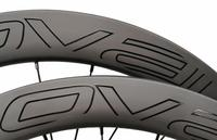 width 25mm carbon bike disc clincher tubeless wheel 50mm 60mm customized decal with center lock 12*100 12*142 or XD XX1
