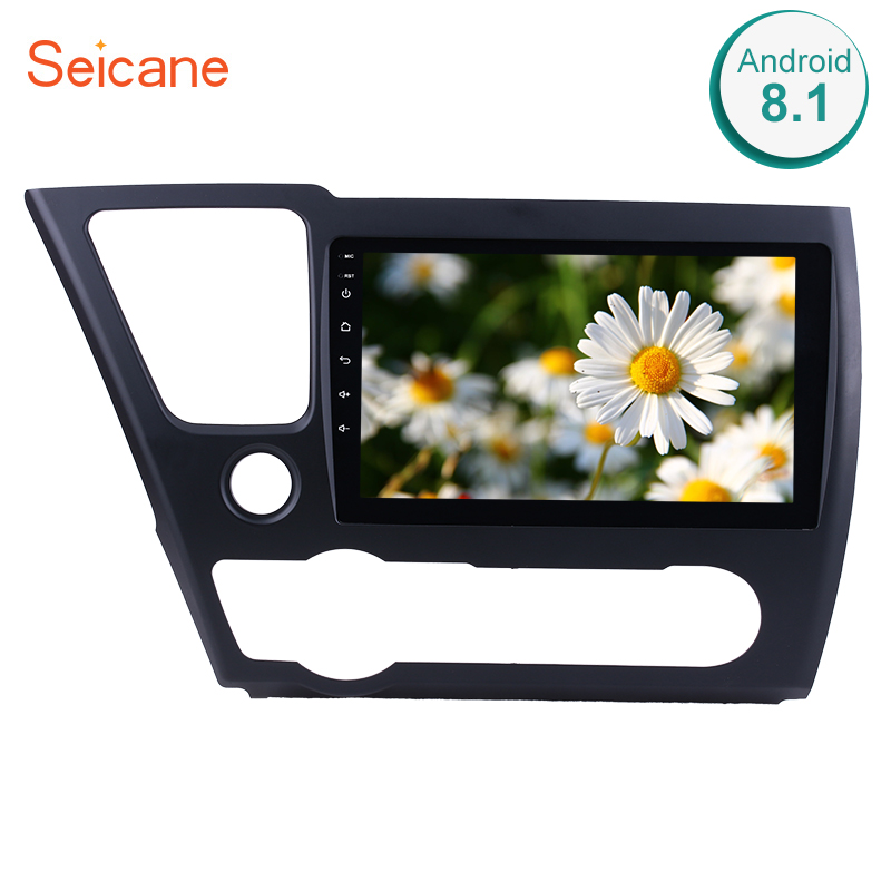Seicane Quad core/8 core 9Car Radio Multimedia Player GPS Navigation System For 2014 2015 2016 2017 Honda Civic With Bluetooth