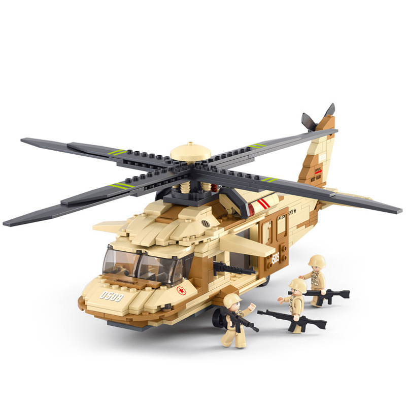 0509 Air force Military Battle UH-60L Black Hawk helicopter Set Building Brick Block Educational Minifigure Childen Toy