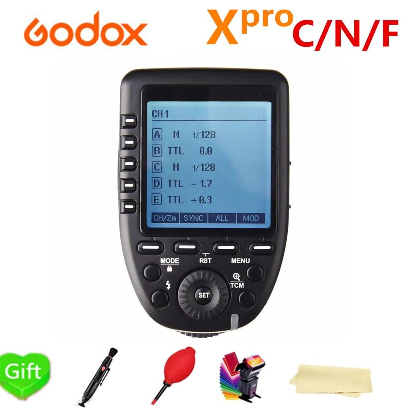 Godox XPro-F Xpro-C Xpro-N Déclencheur Flash Émetteur avec 2.4G Sans Fil TTL HSS LCD écran pour Canon Nikon Fujitsu Fuji Caméra