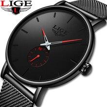 Image of LIGE Fashion New Men Watches luxury Quartz Watch Top Brand Ultra-thin leisure Sport Waterproof Men's Watch Relogio Masculino