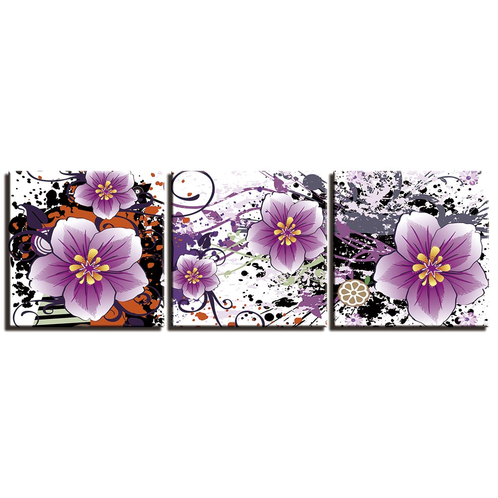 Wall Art Canvas Painting 3 Pcs Prints and Posters Home Decor Artwork Still life flower Wall Pictures for Living Room in Painting Calligraphy from Home Garden