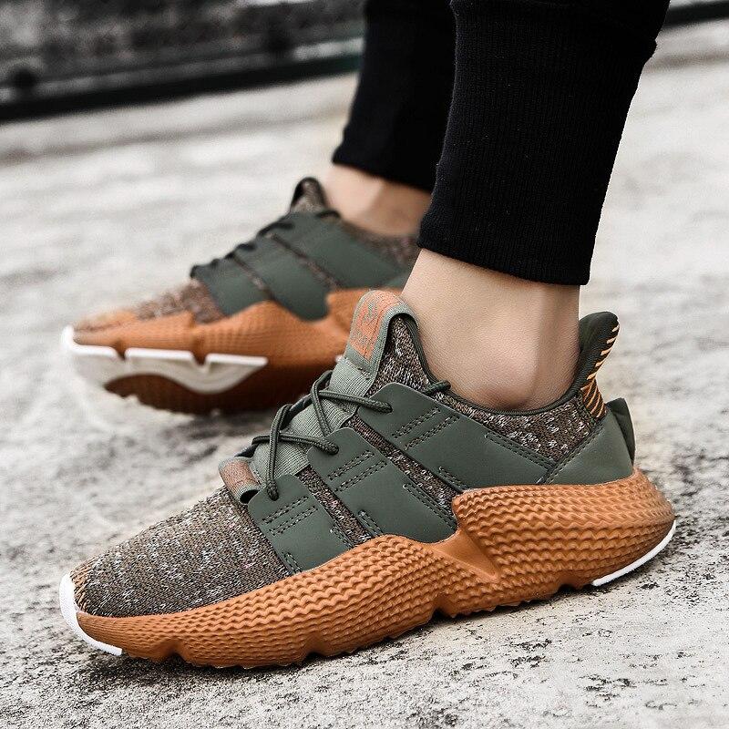 bbd84ec09cac0 Venta caliente zapatos de moda Casual para hombres primavera otoño hombre  zapatillas de deporte luz camuflaje de encaje zapatos planos cómodos zapatos  de ...