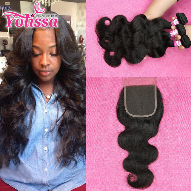 8a Peruvian Body Wave 3 Or 4 Bundles With Closure Human Hair Weave