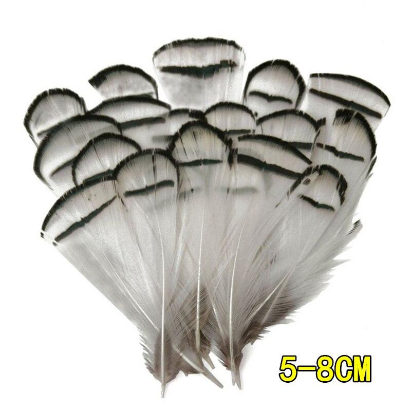 Натуральное павлинье перо перья фазана для рукоделия страусиные перья Изготовление ювелирных изделий рождественские праздничные украшения Плюмы - Цвет: 5-8CM