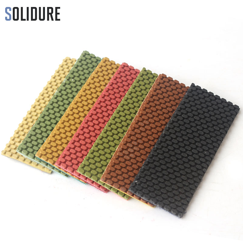 7pcs/set Colorful Diamond Polishing Sheet 120*45*2mm Design For Diamond Drum Polishing Wheels Wet Use For Stone Abrasive Pad