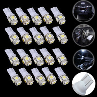 20pcs Car Interior Light T10 Wedge 5 SMD 5050 Xenon LED Light Bulbs12V Super Bright White