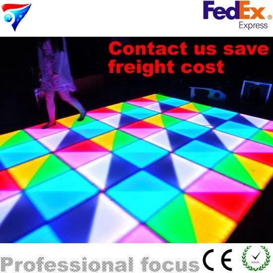 Nouveau piste de danse LED de mariage professionnel de conception 432x10mm (R144, G144, B144)