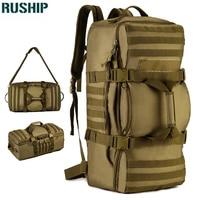 Tactics Men Wo Hunting Backpack Large Capacity Nylon Shoulder Bags Luggage Tote Hike Camp Backpack Laptop Travel Big Bag 60L