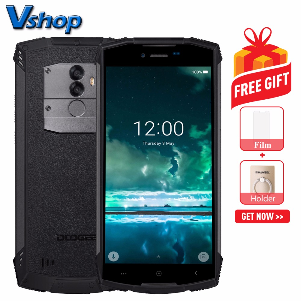Original DOOGEE S55 IP68 Triple Proofing 4G LTE Mobile Phone Android 8 0 4GB 64GB Octa