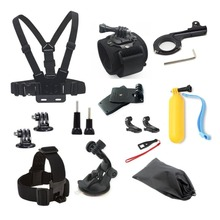 GoPro Accessories Kit Car suction cup Float stick Chest Mount strap For SJCAM SJ4000 SJ5000 M10 Action Camera For gopro hero4 5