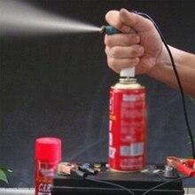 Veículo injector de combustível flush cleaner adaptador kit diy ferramenta de limpeza do carro 2 bocais