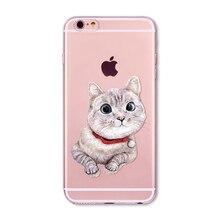 Cute Cat Cases For iPhone 7 6 6S 5 5S SE 5C 7Plus 6Plus 6sPlus 4 4S