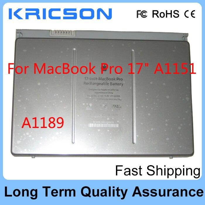New battery A1189 For font b Apple b font font b MacBook b font Pro A1189