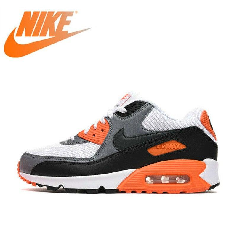 Оригинальный Nike Оригинальные кроссовки AIR MAX 90 Для мужчин бега уличная спортивная обувь для тенниса дизайнерские дышащие кроссовки новые
