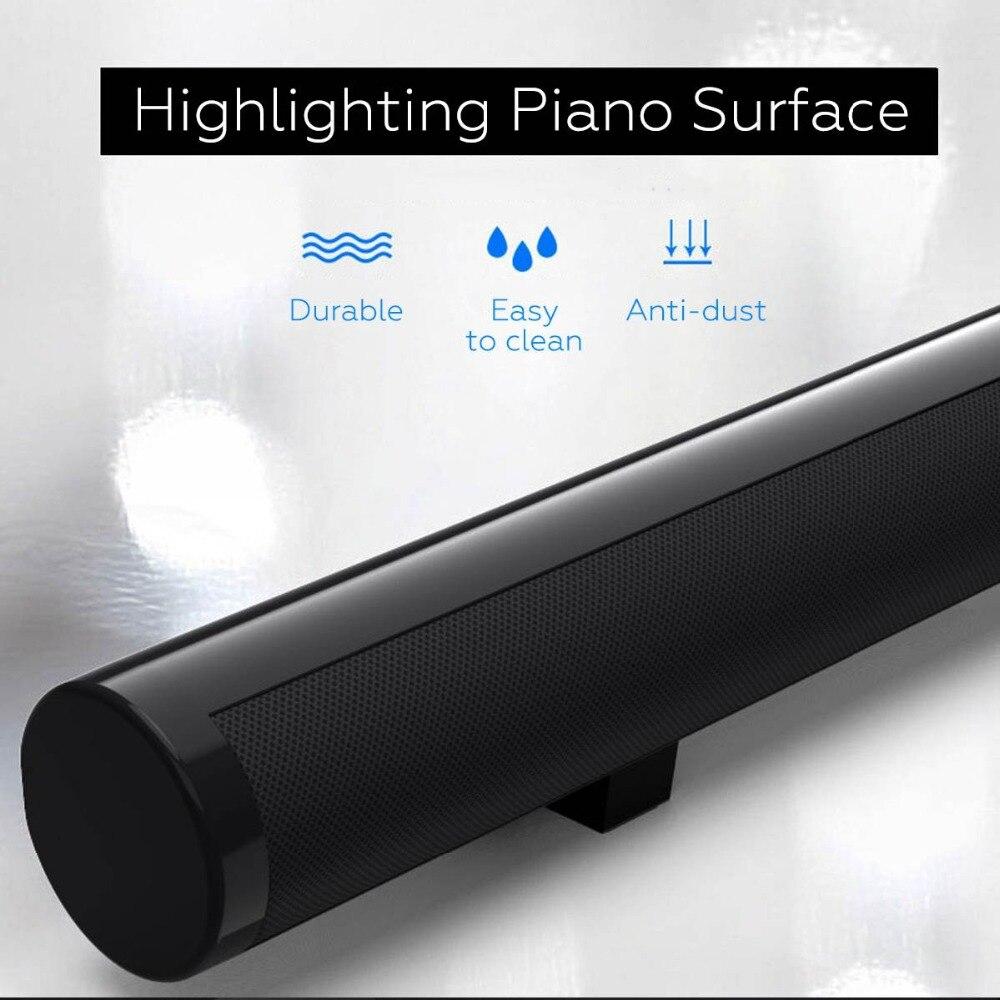 Barre de son TV sans fil haut-parleur Bluetooth tissu élégant barre de son Hifi 3D Support stéréo Surround RCA AUX HDMI pour Home cinéma - 5