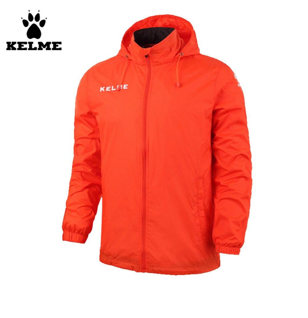 Kelme enfants col montant imperméable imperméables à capuche veste K15S606 Orange