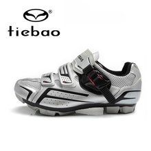 Tiebao Men Bike Cycling Shoes Breathable Bicycle Professional Self Lock Nylon Carbon Fiber Sole MTB Sports Riding Shoes