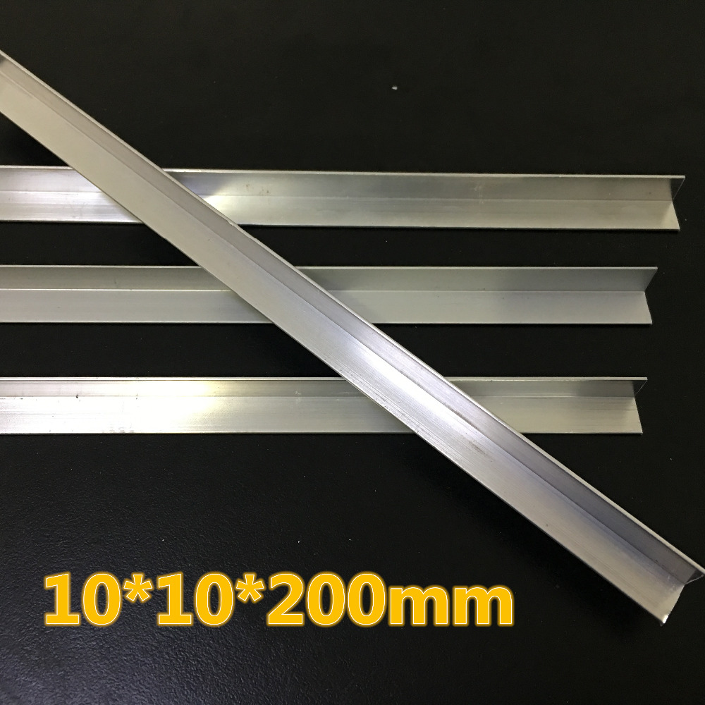 1pc J014 Angle Aluminum Alloy 10*10mm 200mm Long Easy to Incision for Model Car Frame Making Free Shipping Russia szblaze 6061 aluminum alloy tube clap long track ice speedskating blades frames 60hrc dislocation skate shoes knife 1 1mm frame