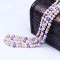 Multi cor verdadeira pérola talão colar de jóias mulheres colar longo blade & cadeia de corda para o partido