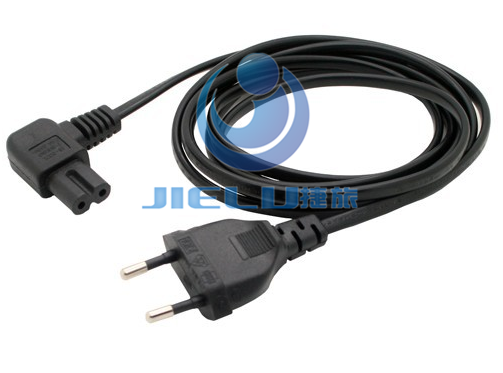 цена на 5m,1 pcs European 2Pin Male Plug to Angled IEC320 C7 Female Socket Power Cable,EU Power Adapter Cord