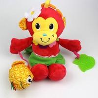 1PC Baby Teether Baby Infant Animal Pacify Dolls Teething Developmental Toys Monkey Newbron Gift 2017 XV2