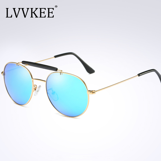 2017 NEW Lvvkee brand new men's wire-frame polarized sunglasses driving Goggles Folding sunglasses fashion design original case