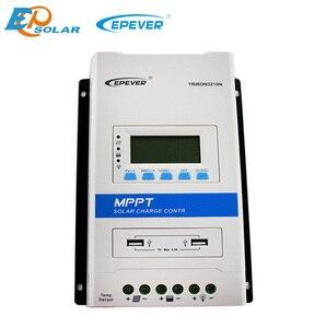 Image 2 - Контроллер солнечной зарядки EPever TRIRON 4210N 4215N 40A 12 В 24 В, ЖК Модульный солнечный регулятор, зарядное устройство 40 А с MT50 eBox WIFI BLE
