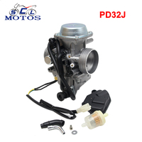 Sclmotos PD32J 32mm Vacuum Carburetor for honda TRX350 400 TRX450FE 1997 2006 universal other 300cc to 450cc Racing Motor UTV